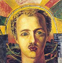 Д. Бурлюк. Портрет В. Каменского (1917 г.).