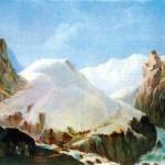 """Картина М.Ю. Лермонтова """"Вид Крестовой горы"""""""